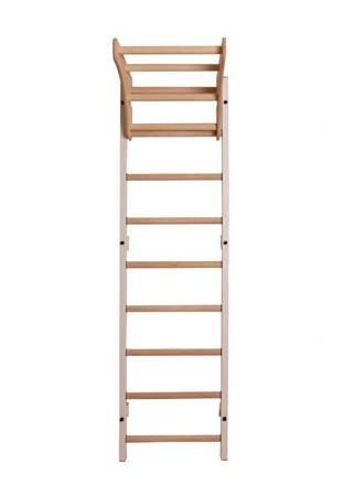 Drabinka gimnastyczna z drewnianymi szczebelkami i drewnianym drążkiem 310W BenchK 240 x 67 cm