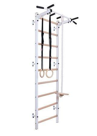 Drabinka gimnastyczna z drewnianymi szczebelkami z drążkiem 311W + akcesoria BenchK 240 x 67 cm