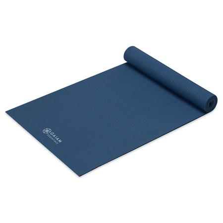 Mata z paskiem do jogi Essentials Gaiam 173 x 61 x 0,6 cm niebieska
