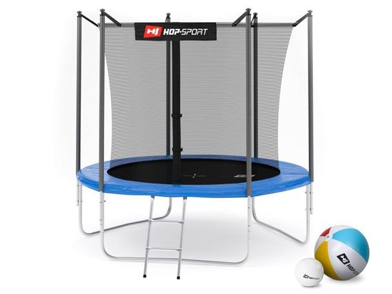 Trampolina ogrodowa 8ft (244cm) z siatką wewnętrzną Hop-Sport - 3 nogi