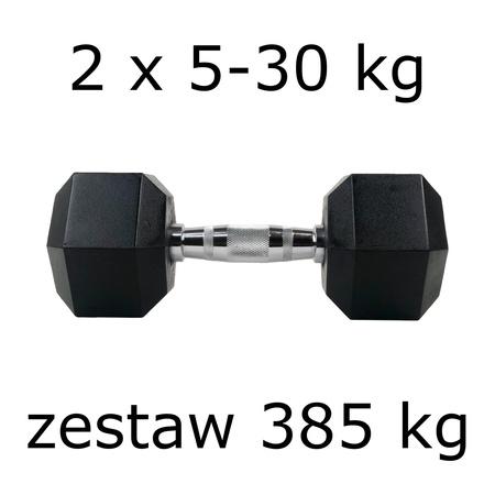 Zestaw hantli hex 2 x 5-30 kg (385 kg)